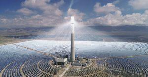 """مشروع """"البرج"""" لتوليد الطاقة الشمسية."""